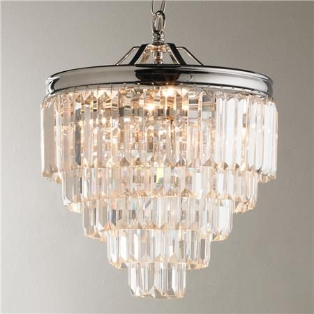 Photo Album Gallery Love this for over the masterbath tub Modern Faceted Glass Layered Mini Chandelier
