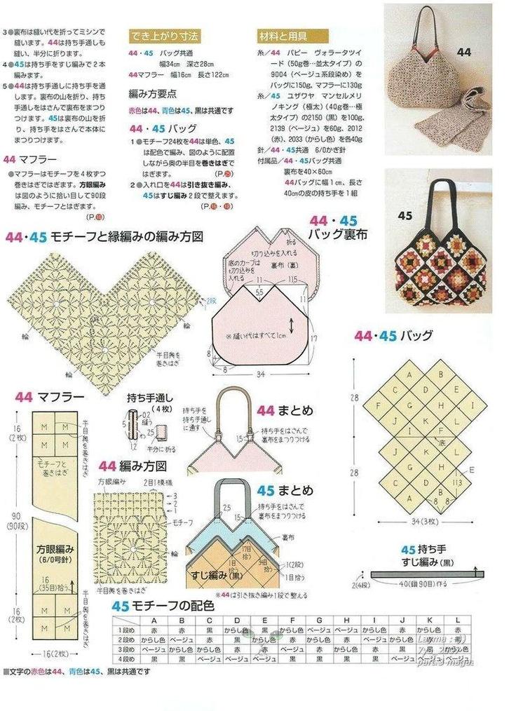 36 best Crochet : bolsos tutoriales y patrones images on Pinterest ...