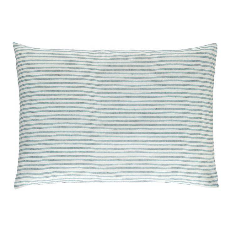 Lab Three Colour Striped Linen Pillow Case Multicoloured