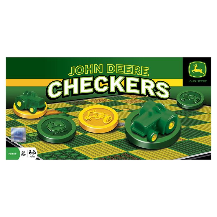 John Deere Checkers Game by MasterPieces, Multicolor