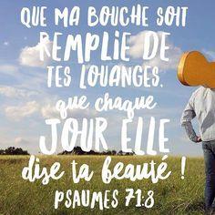 Hello, et toi quelle est ta louange en ce jour? #chanter #louer #versetdujour