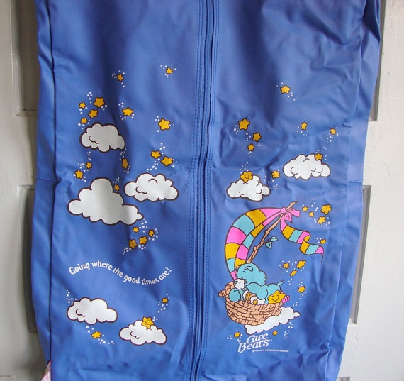 Vintage Care Bears Garment Bag 80s Childrens by QuiteFrankie, $24.00