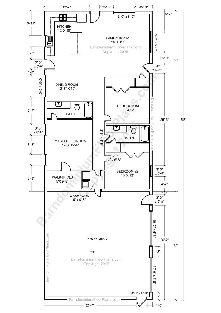 Awesome 60 barndominium house plans decorating design of for Barn floor plan