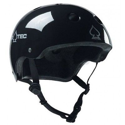 Pro-tec classic skate #skateboard scooter / bike #helmet - gloss #black,  View more on the LINK: 	http://www.zeppy.io/product/gb/2/401177256145/