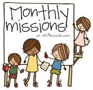 Monthly missions for kids!