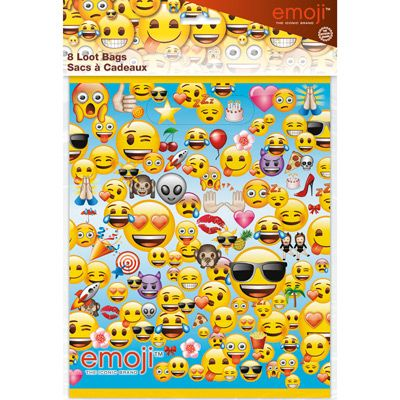 Emoji Loot Bags - 8 Pk Party Supplies Canada - Open A Party
