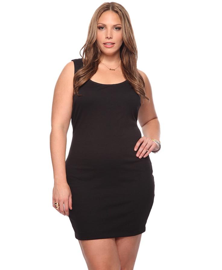 Black Simple dress plus size
