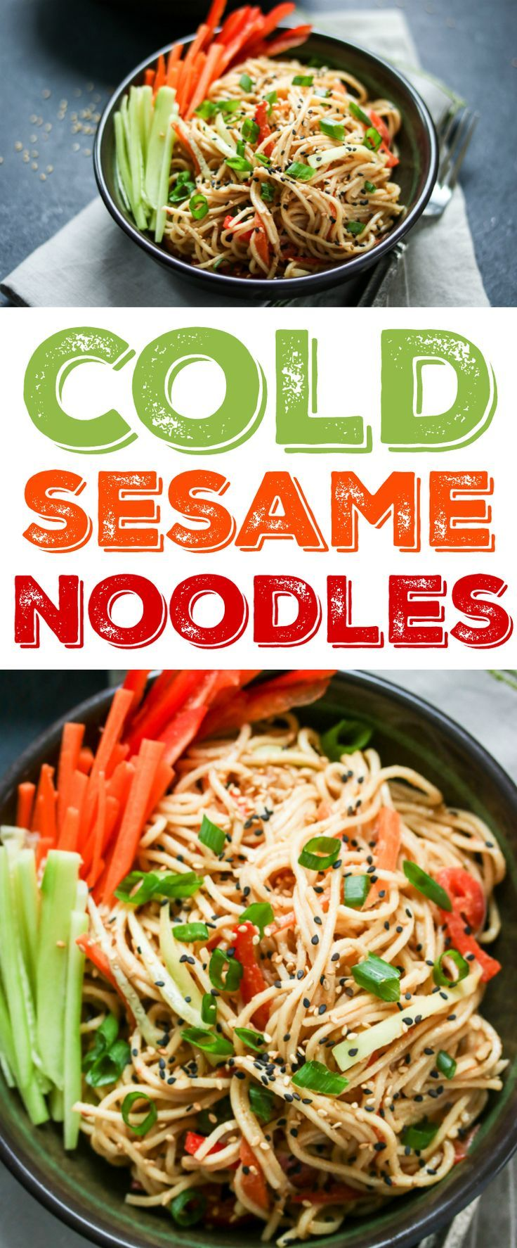 Get that perfect take-out taste at home with this easy cold sesame noodles recip…