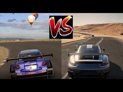 FORZA 7 vs GT SPORT - XBOX ONE X vs PS4 PRO Graphics