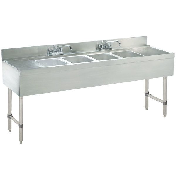 Advance Tabco Crb 64c Lite Four Compartment In 2020 Stainless Steel Bar Bar Sink Sink