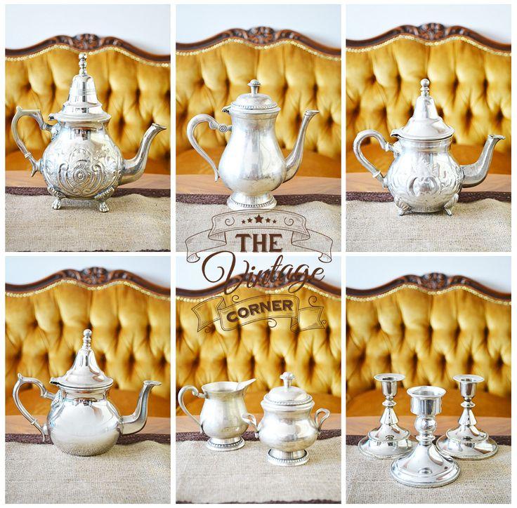 vintage silverware, tea time silverware, silver cups