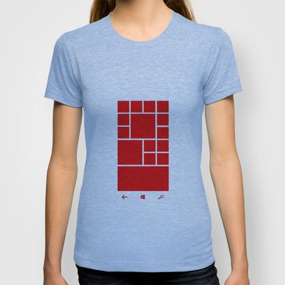 Windows Phone 8 Grid - Red T-shirt by cfortyone - $18.00