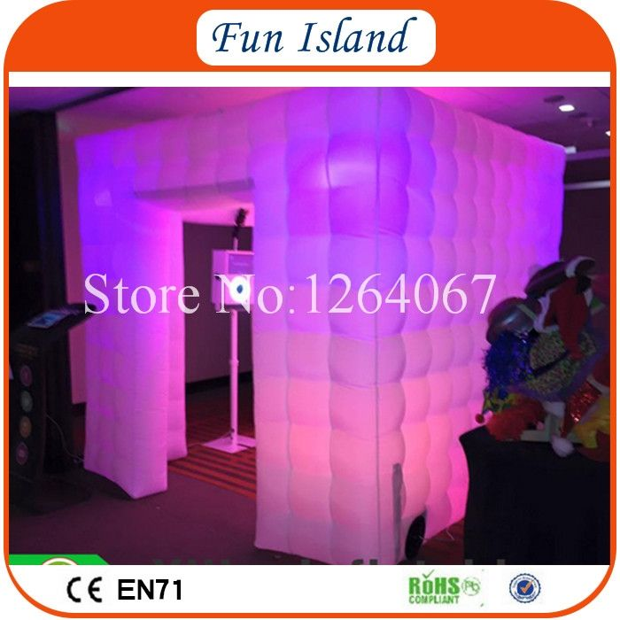 620.00$  Buy here - http://alin7a.worldwells.pw/go.php?t=32765025353 - Free Shipping 3x3x2.4m Inflatable Photo Booth/ Cube Inflatable Photo Booth/ LED Inflatable Photo Booth For Sale 620.00$