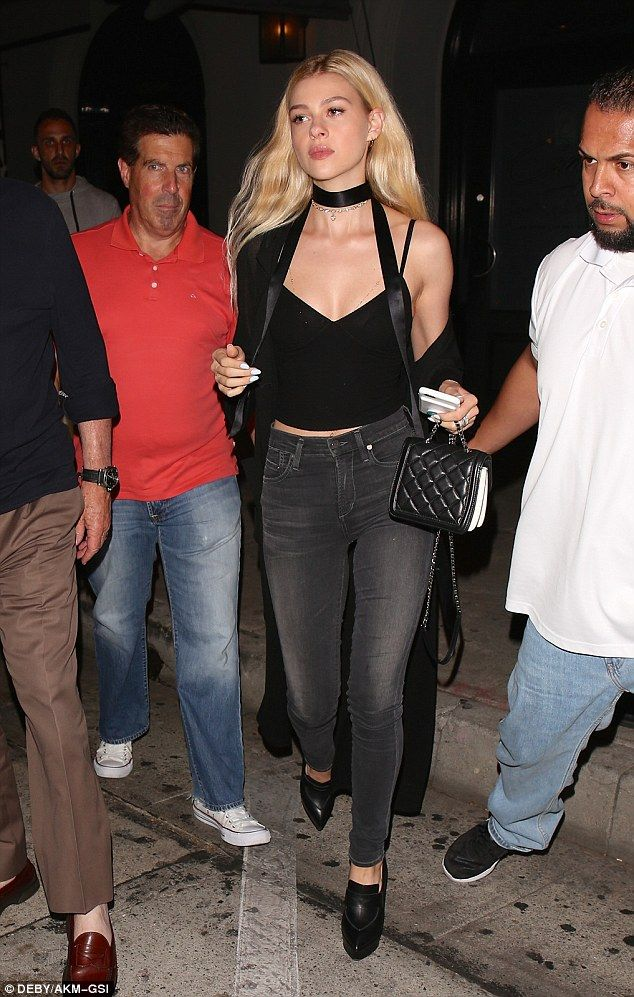 Stepping out: On Saturday night Transformers actress Nicola Peltz put on a glamorous display while leaving Craig's restaurant in Los Angeles