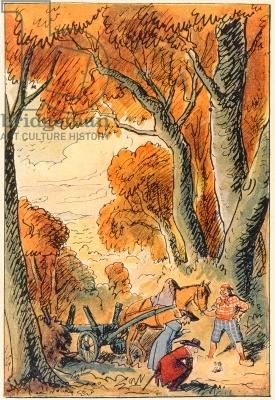 """""""Tom Thumb"""", Brothers Grimm, 1935, Pierre Noury"""