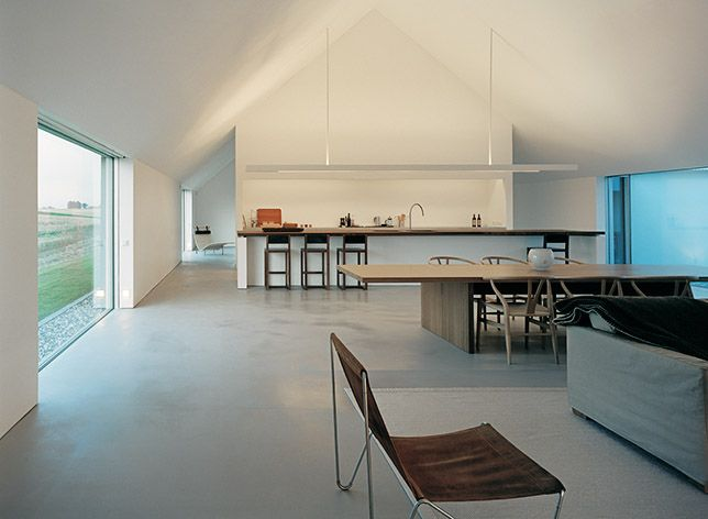 Home in Sweden by architect John Pawson. ( like the space,open brightness & layout)