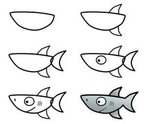 plc sharks bring me your best lets decorate the walls i easy cartoon drawingsfish - Kid Cartoon Drawing