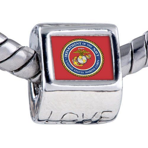 Pugster Bead Character Marine Corps Photo Love European Charm Beads Fit Pandora Chamilia Biagi Charms Bracelet Pugster. $12.49. Unthreaded European story bracelet design. It's the photo on the heart charm. Hole size is approximately 4.8 to 5mm. Bracelet sold separately. Fit Pandora, Biagi, and Chamilia Charm Bead Bracelets