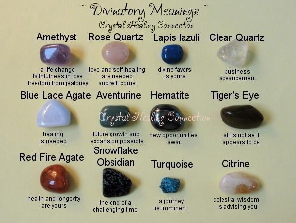 divinitory meanings of crystals rocks gems