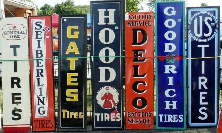 Rare Original Vertical TIRES Sign Collection