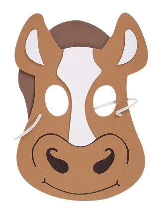 Máscara de caballo para imprimir y usar | Máscaras de Carnaval