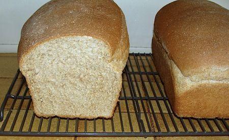Soft Whole Wheat Oatmeal Sandwich Bread