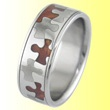 Puzzle piece inlay ring.