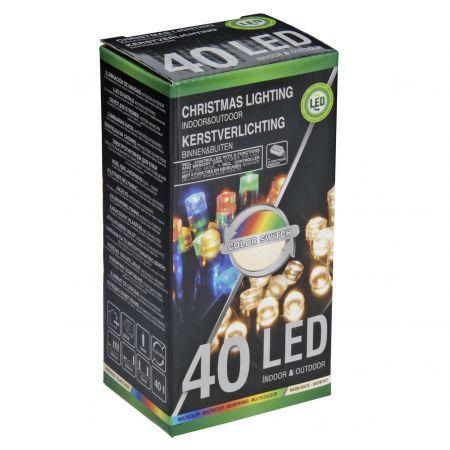 Instalatie decorativa outdoor eNoelle, 40 LED-uri cu lumina alba calda