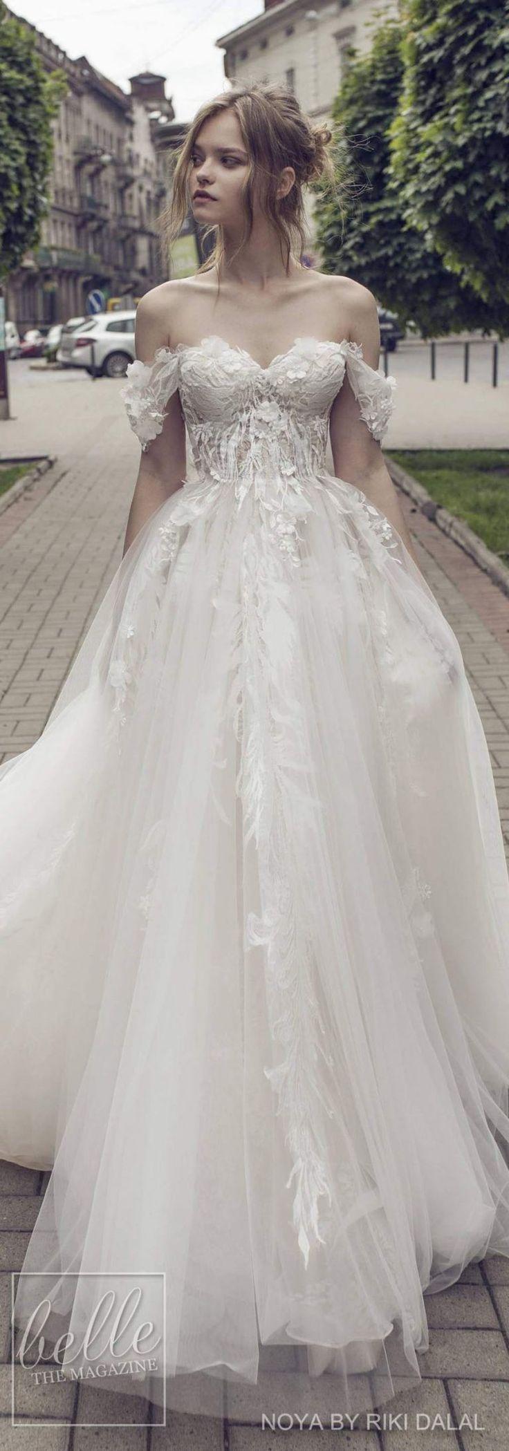 Noya by Riki Dalal Bridal 2018 Shakespeare Collection | off the shoulder wedding dress ballgown with sweetheart neckline #weddingdress #weddingdresses #bridalgown #bridal #bridalgowns #bride #bridetobe #weddinginspiration #weddingideas #weddings