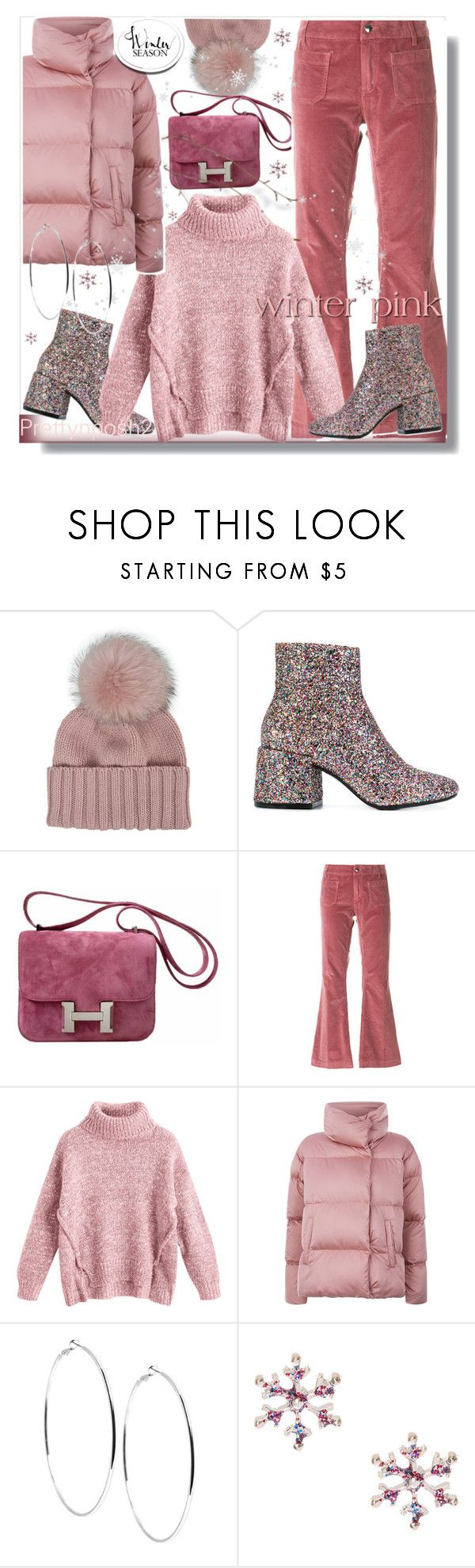 """""""Winter Essentials in Pink! ❄️❄️❄️"""" by prettynposh2 ❤ liked on Polyvore featuring Inverni, MM6 Maison Margiela, Hermès, The Seafarer, Weekend Max Mara, GUESS and Winter"""