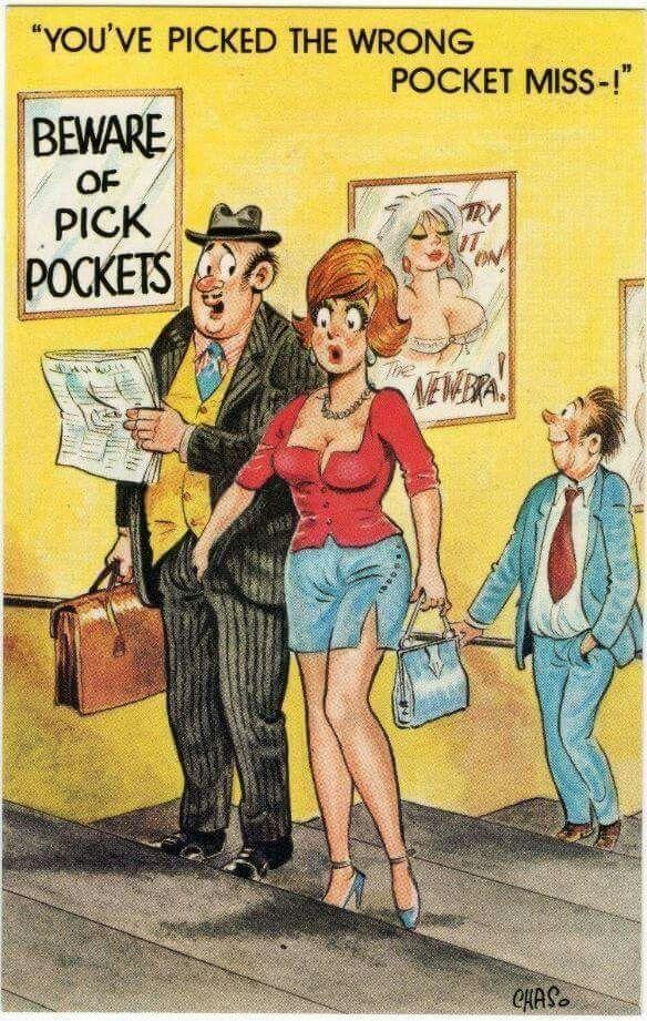 Postcard Pickpocket Funnies 18 Pinterest Humor