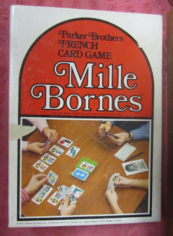 Vintage 1971 Mille Bornes French Card Game Parker Brothers Complete - Free Ship…