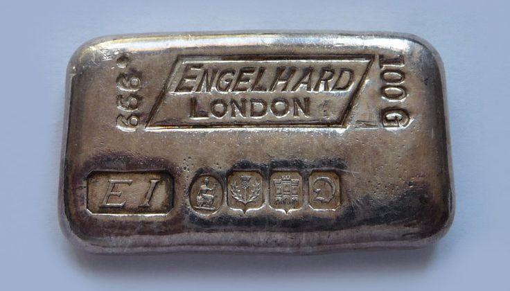 Silberbarren von Engelhard