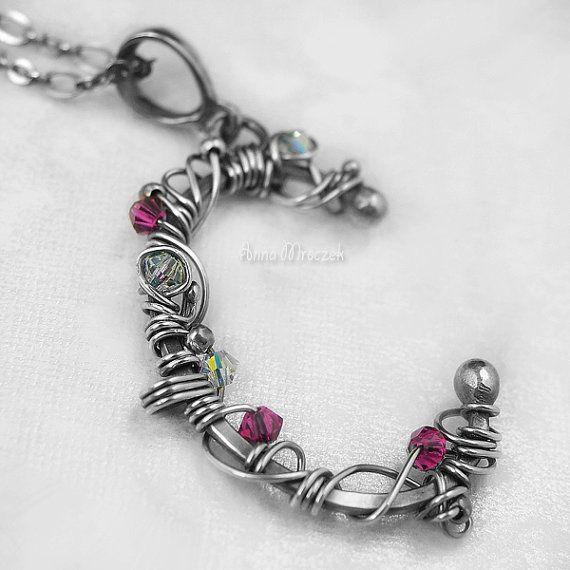 C LIKE CINDIRELLA  pure silver wire wrapped pendant by AnnaMroczek, $150.00