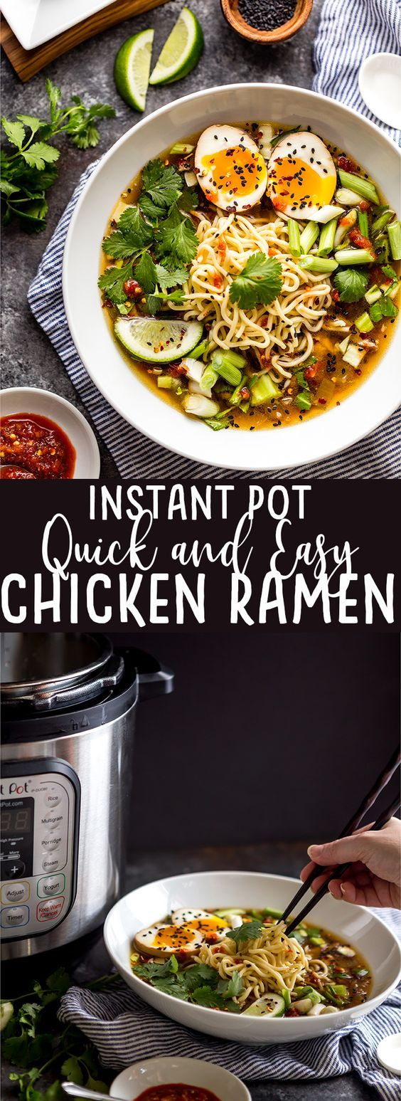 This Instant Pot Chicken Ramen makes a delicious and flavorful ramen in about ha…