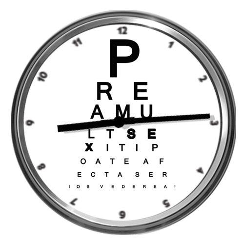 Cea cu mesaj funny : Prea mult sex iti poate afecta serios vederea, dovada ca abia se vad cifrele orelor, nu?