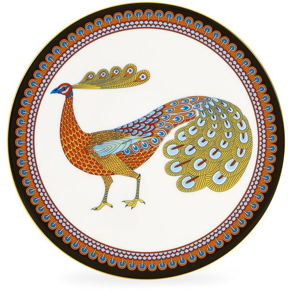 Liberty London Peacock Garden Plate - 22cm ($175) ❤ liked on Polyvore featuring home, kitchen & dining, dinnerware, multi, oriental dinnerware, floral plates, peacock plates, asian dinnerware and flowered plate