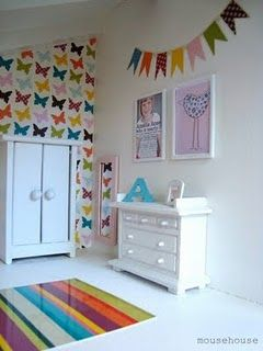 Such a cute butterfly wall