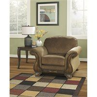 Signature Design by Ashley Furniture Montgomery Fabric Accent Chair in Mocha