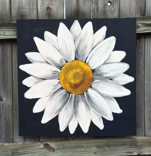 best  daisy painting ideas on   flower painting, Beautiful flower