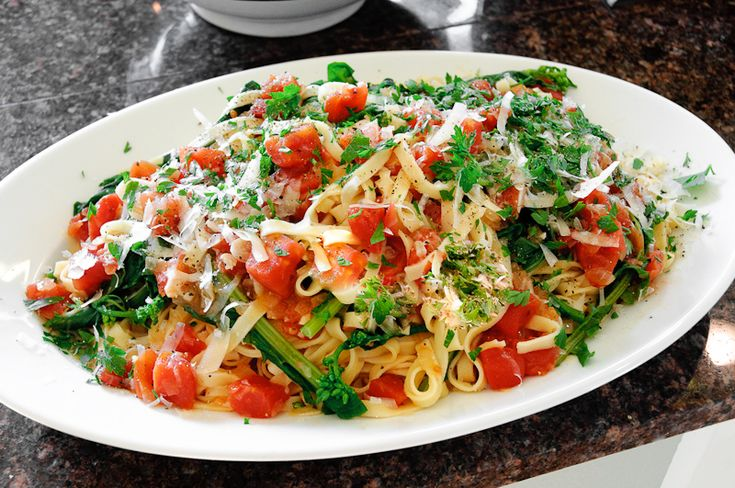 Fresh Fettuccine with Broccoli Raab in a Lemony Tomato Sauce – Recipe | Herbivoracious - Vegetarian Recipe Blog - Easy Vegetarian Recipes, Vegetarian Cookbook, Kosher Recipes, Meatless Recipes
