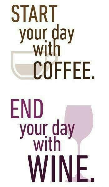 Cool Coffee Quote | #wine and #coffee