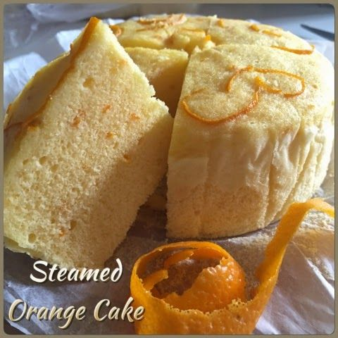 Steamed Orange & Egg Cake : This is a non-dairy cake which uses freshly squeeze orange juice in place of milk. The addition of orange peel enhances the fresh aroma of the cake. The texture is surprising soft and can last till the next day.