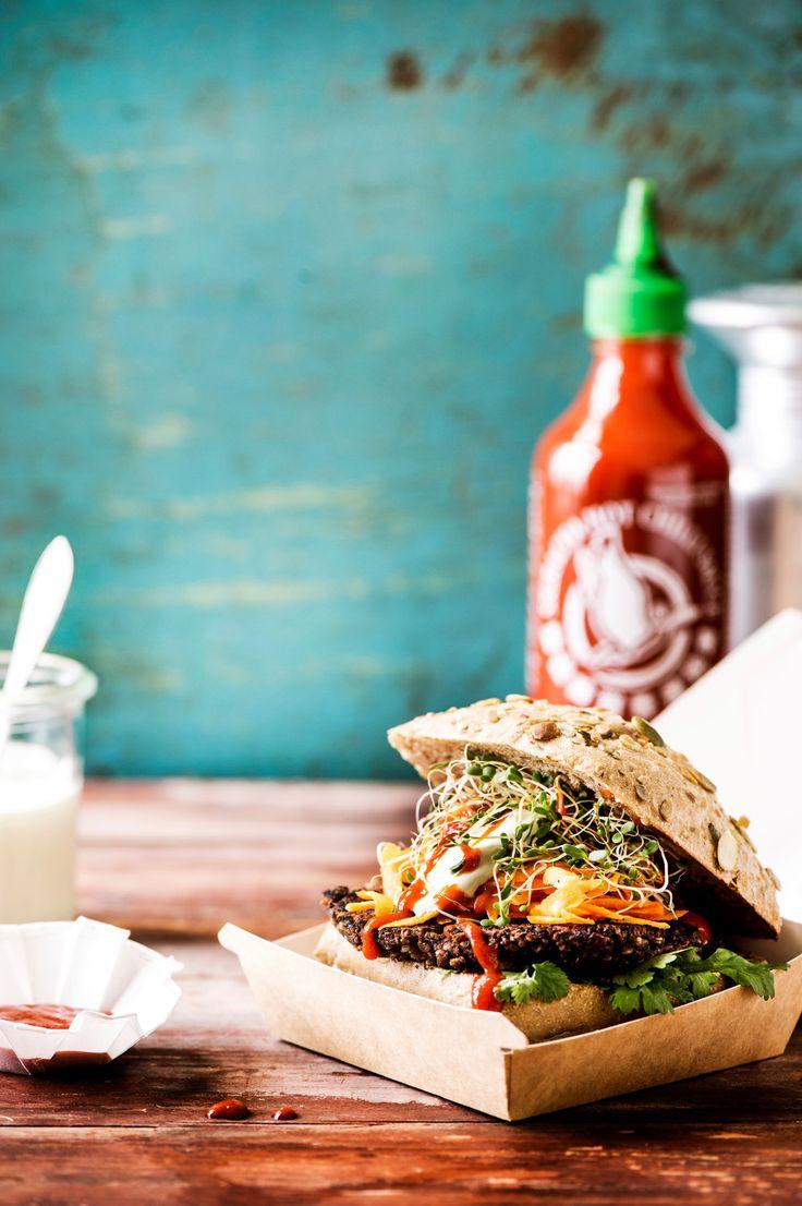 Mustapapuhampurilaiset | K-ruoka #kasvisresepti