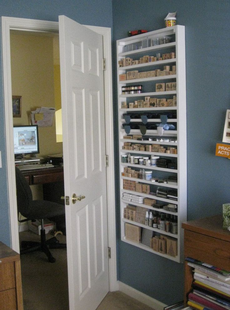 Behind The Door Shallow Shelving Storage Stamps
