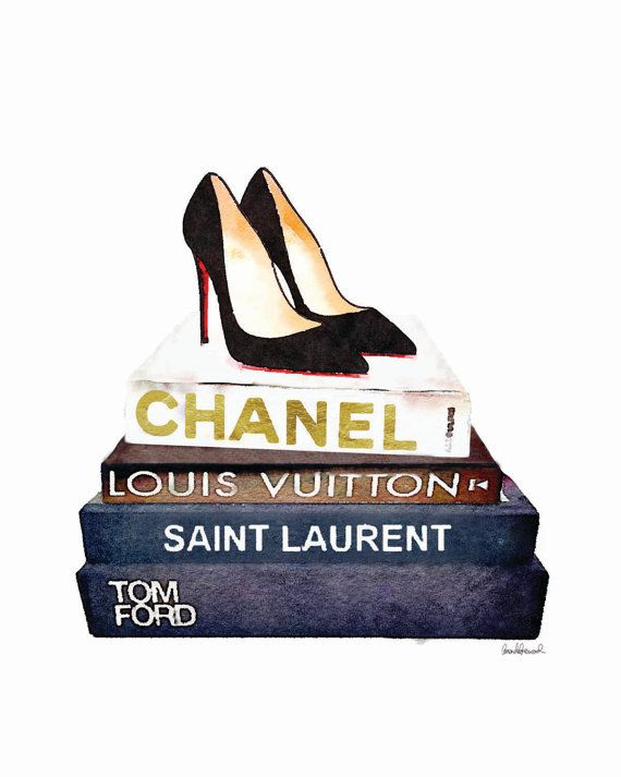 Chanel inspired Set of 3 fashion posters Louboutin by hellomrmoon