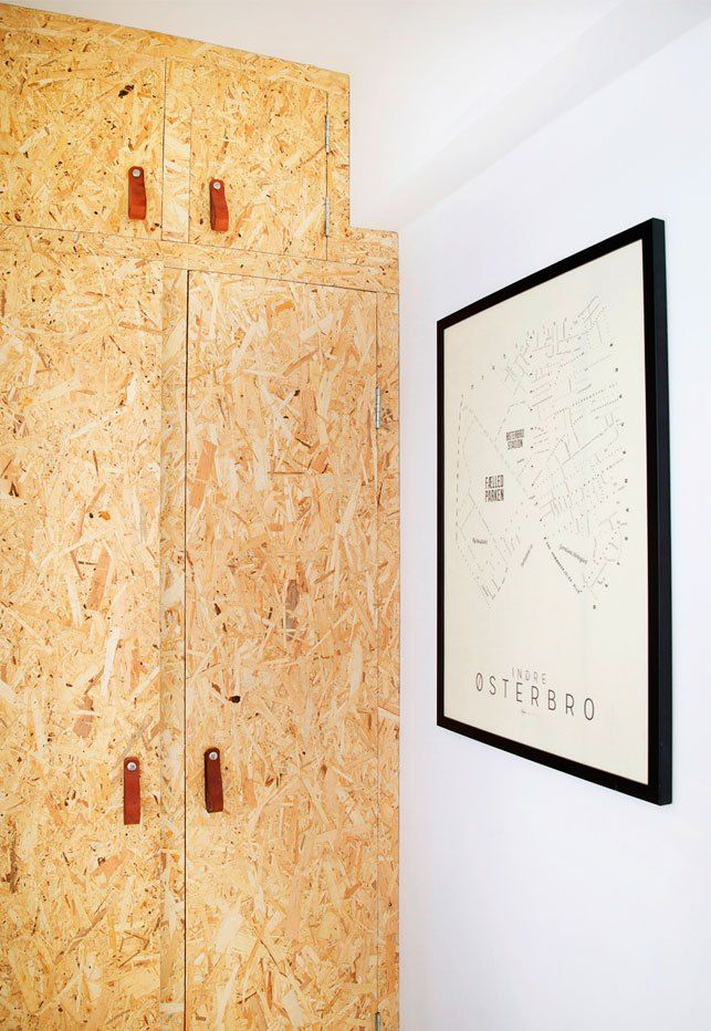 scandinavian home_DIY OSB plywood closet