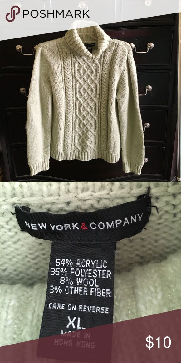 Selling this NY & Co turtleneck cable sweater on Poshmark! My username is: tee_six. #shopmycloset #poshmark #fashion #shopping #style #forsale #Sweaters