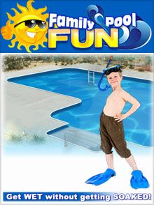 Family Pool Fun Above and in-ground swimming pools and discount pool supplies  Family Pool Fun helps you build your own swimming pools, spas and saunas, with accessories and supplies that will ensure hours upon hours of exciting and safe backyard fun for everyone.