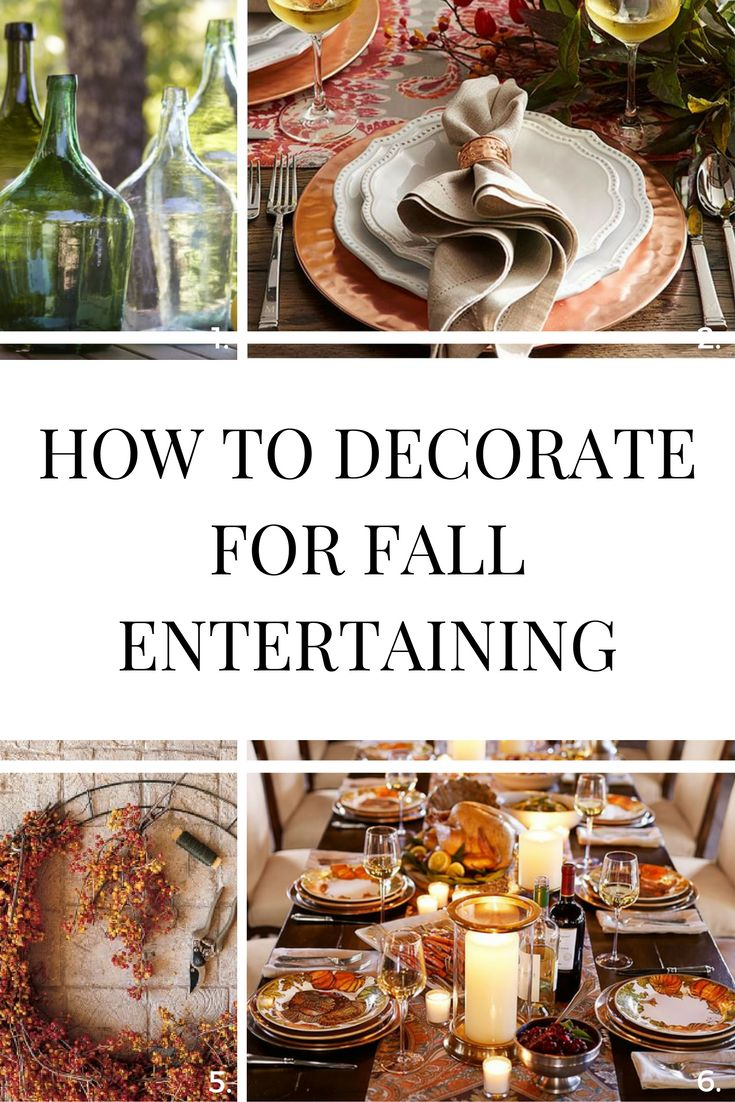 Decorating Tips For Fall Entertaining; How to Decorate for Fall Entertaining; Perfect Table Decor for Fall 2016